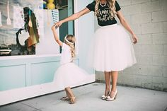 Our beautiful Whitney lace and tulle skirt is now being offered as part of an adorable Mommy and Me set. How sweet would it be to have matching tulle skirts with your little one? Too cute! - Available