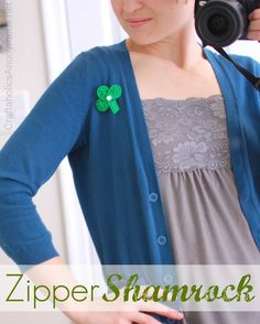 How to Make a Zipper Shamrock TUTORIAL- too cute and so simple!