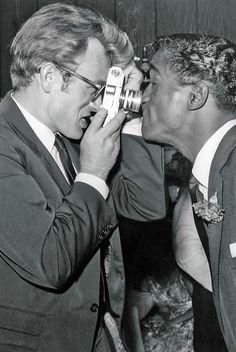 James Dean and Sammy Davis Jr.,1955.