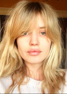 Georgia May Jagger // shaggy fringe // blonde // messy