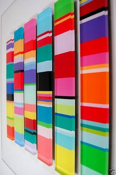 color wonder wall art by messicakes on Etsy Modern Wall Sculptures, Acrylic Panels, Sculpture Painting, Diy Canvas, Art Design, Diy Wall Decor, Amazing Art, Etsy, Colourful Art