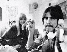 1967 - George Harrison and his ex-wife Pattie Boyd.