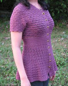 Orchid Crocheted Top by lprajogo, via Flickr