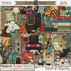 School of Wizardry by Magical Scraps Galore!  at Scraps N Pieces.  For when I someday get to go to Hogwarts