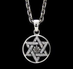 JUDAISM STAR OF DAVID 925 STERLING SILVER PENDANT gb-034