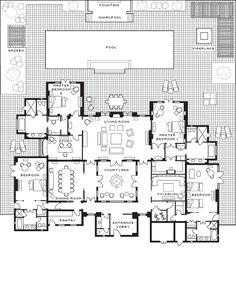 Plan of villa ground floor oasis bab atlas marrakech for Brodie house plan