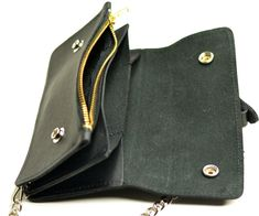 online shopping for Anaheim Leather Men's Genuine Leather Biker Wallet Chain Zipper Stud Trucker Purse Wallet from top store. See new offer for Anaheim Leather Men's Genuine Leather Biker Wallet Chain Zipper Stud Trucker Purse Wallet Wallet Chain, Long Wallet, Purse Wallet, Leather Men, Leather Wallet, Black Leather, Iphone Wallet Case, Fashion Bags, Style Fashion