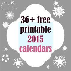 36+ FREE printable 2015 calendars | round-up on MeinLilaPark