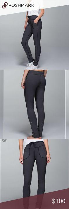 bcb3a06f6d Lululemon Skinny Will Pant •Cross stitch black and white •Cottony-soft Luon  fabric