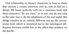relationship with a fictional characters