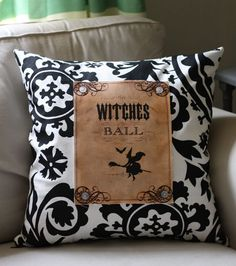 Make a Graphic Halloween Pillow - DIY Tutorial - The Graphics Fairy