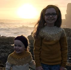This yoke Sweater is knitted in the round, from bottom up with seamless sleeves. This is an Icelandic style yoke, but with only two colours, as the original Fair Isle style patterns. It is inspired by a traditional over hundred years old Faroese fair isle pattern, which has been altered a little.