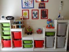 Pine Trofast Playroom