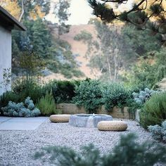 With a severe California drought, many home owners are altering their gardens and opting for native plants and gravel landscapes. This is a perfect example of a gravel landscape that is inviting, blends very well into the environment, and still provides plant life that is green and pleasant to look at. Rethinking our gardens! #TheArtofOutdoorLiving #Xeriscape #California #GravelLandscape #CA #SantaBarbara #SB #LandscapeDesign #GDA #GardenDesign #Landscape #Drought #Rethink CaliforniaGardens…