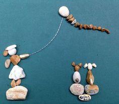 Pebble art (gülen)kite gril