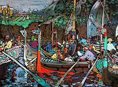 Song of the Volga - Kandinsky - Canvas Print | Painting 16131