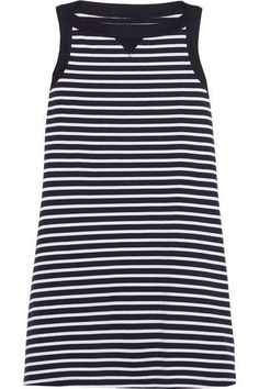 20 Casual Dresses You'll Want To Live In #refinery29  http://www.refinery29.com/casual-dresses-easy#slide-15  Just look at that bateau neckline and blue-and-white Breton stripes.Sacai Striped Cotton Dress, $370, available at Net-A-Porter....