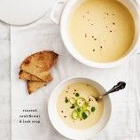 Roasted Cauliflower & Leek Soup // loveandlemons.com