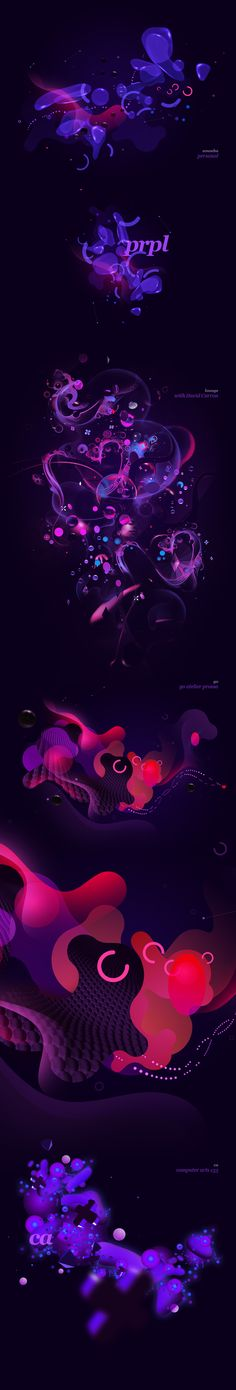 pure purple by dualform, via Behance