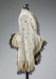 Mantle ca. 1885 French (probably) silk, metal Metmuseum