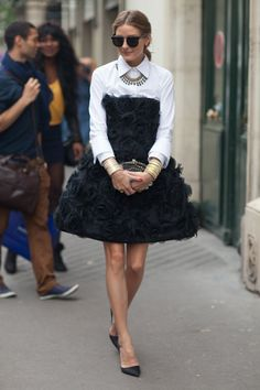 Paris Street Style Fall Couture 2013 - 2013 Fall Haute Couture Parisian Street Style - Harper's BAZAAR