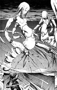 """monsters from """"Blame!"""" by Tsutomu Nihei"""
