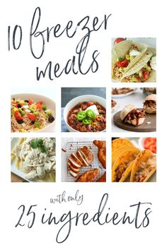 10 Freezer Meals with only 25 Ingredients | Six Sisters' Stuff Make 10 freezer meals using just 25 ingredients. Save time and money by filling up your freezer with delicious meals ready to go whenever you need them! Unique Recipes, Raw Food Recipes, Pork Recipes, Dinner Recipes, Cooking Recipes, Ethnic Recipes, Cooking 101, Drink Recipes, Yummy Recipes