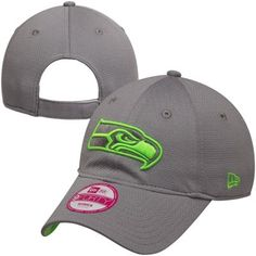 New Era Seattle Seahawks Ladies Gray 9FORTY Tech Essential Adjustable Hat
