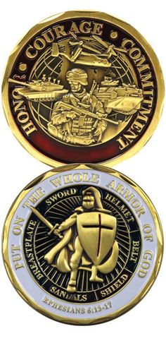 Armor of God Soldier Challenge Coins