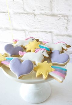 Cookies from a Rainbow Unicorn Birthday Party via Kara's Party Ideas KarasPartyIdeas.com (26)