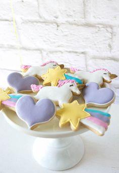Cookies from a Rainbow Unicorn Birthday Party via Kara's Party Ideas KarasPartyIdeas.com (26)