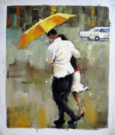 by - City Life - - Umbrella - Museum Quality Oil Painting on Canvas Art by Artseasy on Etsy Oil Painting On Canvas, Canvas Art, Umbrella Painting, Illustrations, City Life, Love Art, Contemporary Artists, Original Art, Photos
