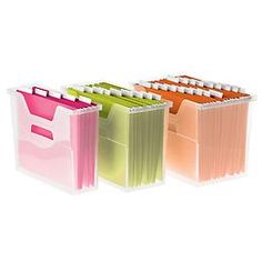 The Container Store > Open-Top File Boxes..to use inside Thirty-One's Utility Tote | A great solution for keeping your work stuff organized when out and about! Thirty-one utility totes can house Container Store's medium sized Open-Top File Box and so much more. | Check out this link at http://www.thenesteffect.com/2011/07/my-thirty-one-organizing-utility-tote.html