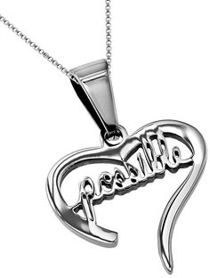 'Possible' - Handwriting Heart Necklace on SonGear.com - Christian Shirts, Jewelry