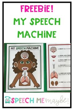 This resource is a file folder activity that can be used at the beginning of a school year or with a new speech student. It illustrates what our speech machine is made up of and the function of our speech helpers. I hope you love it! Articulation Therapy, Articulation Activities, Speech Therapy Activities, Language Activities, Speech Language Therapy, Speech Language Pathology, Speech And Language, Speech Room, File Folder