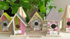 Driven By Décor: Setting the Table for Easter: DIY Birdhouse Place Cards