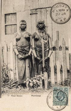 =[PP21A3]= Masai Women - Dated 1907 -  BY: East Africa and Uganda Protectorates -Series #17 - 1900s -