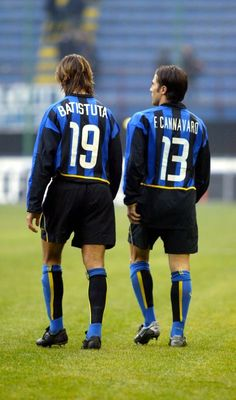 Gabriel Batistuta & Fabio Cannavaro - Inter Milan