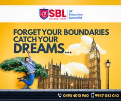 SBL International is the Best Overseas Education Consultant in Calicut. We offers you the Best Study in UK programs for International Students all over the world. We assist the students in their Study Abroad dreams along with delivering quality. Overseas Education, Study Abroad, All Over The World, Student