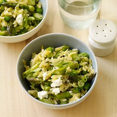 Orzo with Lemon, Asparagus and Peas Recipe | Weight Watchers