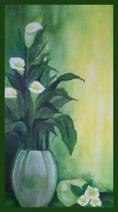 original #painting #acrylic NFAC-GREEN-no frame #IllustrationArt