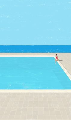 Canicule 5 by Raphaelle Martin - Illustration about solitude and tranquility City Poster, Illustration Arte, Illustrations And Posters, Art Photography, Fashion Photography, Photography Outfits, Cool Art, Graphic Design, Graphic Art
