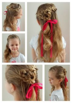 Valentine Heart Hair! Today Ashton is celebrating Valentines Day at school so we had to do something special. :-)
