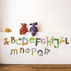 Animal Alphabet Wall Decal $32.95
