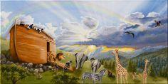 noahs ark painting | Noah's Ark Painting by Cheryl Allen - Noah's Ark Fine Art Prints and ...