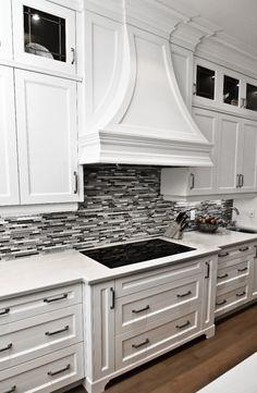 White Cabinets With Black Granite Countertops Rebuild Kitchen Pinterest Cabinets White Cabinets And Black Countertops