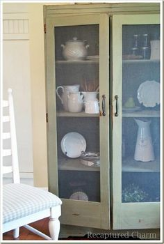 Armoire turned to Kitchen Storage