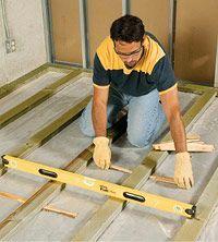How To Level A Plywood Or Osb Subfloor Using Asphalt Shingles Amp Construction Felt Home
