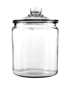 6 x 6 x 9 inch, 1/2-gallon capacity  Constructed of sturdy & thick clear glass  Great countertop storage for cookies, candy, biscuits and more