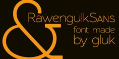 RawengulkSans font by gluk - FontSpace